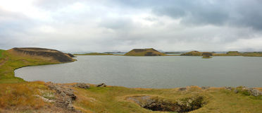 Myvatn lake in Iceland. Stock Photos