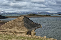 Myvatn lake in iceland Stock Photography