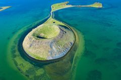 Free Myvatn Lake Landscape At North Iceland. Wiew From Above Royalty Free Stock Photo - 158861645