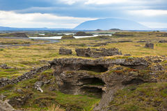 Myvatn Lake landscape at North Iceland Royalty Free Stock Photography