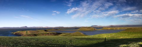 Myvatn landscape Royalty Free Stock Images