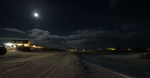 Myvatn in Moonlight Royalty Free Stock Photography