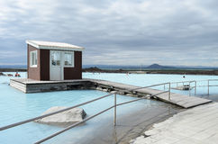 Myvatn Nature Baths. The Myvatn Nature Baths in Iceland royalty free stock photography
