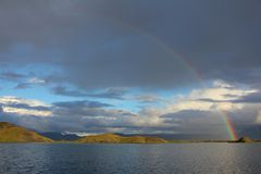 Myvatn Rainbow Stock Images