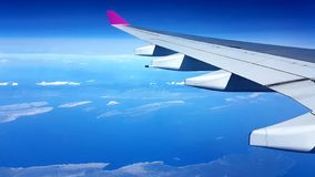 Working from high places. Myway sky clearbluesky horizonview highabove airplane working places  landscape royalty free stock photo