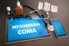 Myxoedema coma (endocrine disease) diagnosis medical concept on Stock Photography