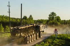 MZKT-79291 12Ñ… 12 jest Belarusian axle pojazdem zdjęcie royalty free