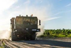 MZKT-79291 12Ñ… 12 jest Belarusian axle pojazdem, projektującym nieść pociski balistycznych Russ obrazy royalty free