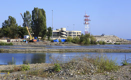 Mzymta River embankment. In the Adler Royalty Free Stock Photos