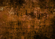 Mörk Autumn Wall Texture Brown Abstract Grunge fördärvad skrapad texturbakgrund Arkivfoto