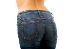 Nádegas fêmeas 'sexy' nas calças de brim imagens de stock royalty free