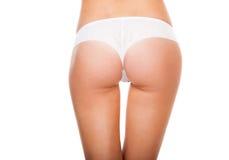 Nádegas no cuecas branca Imagem de Stock Royalty Free