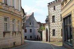 Nádražní street in Slavonice Royalty Free Stock Photography
