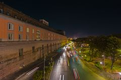 NÁPOLES através de Acton Royal Palace foto de stock