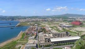 Nápoles, Bagnoli. Área industrial ex de Italsider Fotografia de Stock