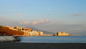 Nápoles, dell'Ovo de Castel Fotos de archivo