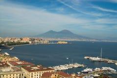 Nápoles e Mt.Vesuvius Fotos de Stock