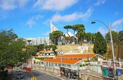 NÁPOLES, ITÁLIA - 9 de outubro de 2016: Opinião ensolarada da rua de Nápoles Italy, Europa Foto de Stock