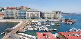 Nápoles, Italia, caracciolo de la 'promenade' imagenes de archivo