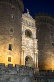 Nápoles, Italia: Castillo de Maschio Angioino Fotos de archivo libres de regalías
