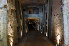Nápoles, Italia - catacumbas de San Gennaro fotos de archivo