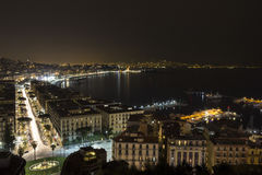 Nápoles na obscuridade imagem de stock