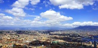 Nápoles Nuvens céu imagens de stock royalty free