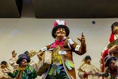 Nápoles, San Gregorio Armeno, caráter afortunado da cena da natividade fotos de stock royalty free