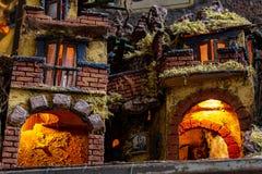 Nápoles, San Gregorio Armeno, estrutura da ucha imagens de stock