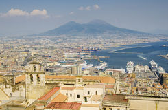 Nápoles y Vesuvio Foto de archivo libre de regalías