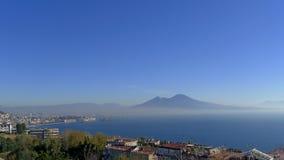 Nápoles y Vesuvio de Posillipo Fotos de archivo