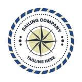 Náutico, plantilla del diseño del logotipo del marinero foto de archivo