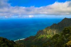 NÄ  Pali wybrzeża stanu pustkowia park - Kauai Hawaje obraz stock