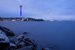 Näsinneula tower and rocky shore Stock Image