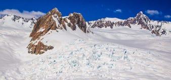 Névé och Icefall Arkivbilder