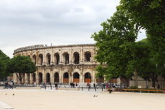 Nîmes Amphitheatre, Francja Obrazy Royalty Free