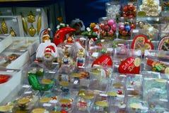 NÃ ¼ rnberg,德国- 12月18 :浪漫圣诞节市场与 库存照片