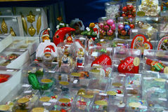 NÃ-¼rnberg, Tyskland - DECEMBER 18: Romantisk julmarknad med Arkivfoton