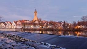 NÃ-¼rtingen på Neckaret River Fotografering för Bildbyråer