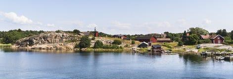 Nötö archipelagu wioska Obrazy Stock