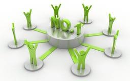 NÃO: 1 rede do negócio Imagens de Stock Royalty Free