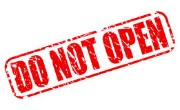 Não abra o texto vermelho do selo Foto de Stock Royalty Free