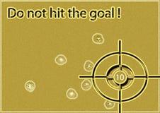 Não bata o objetivo! Foto de Stock Royalty Free