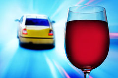 Não beba e não conduza Imagem de Stock Royalty Free