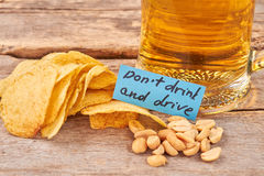 Não beba e não conduza o conceito Foto de Stock Royalty Free