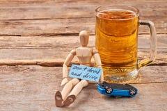 Não beba e não conduza o conceito Imagem de Stock