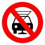 Não beba e não conduza o sinal Fotografia de Stock Royalty Free