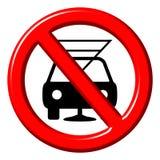 Não beba e não conduza o sinal 3d Foto de Stock