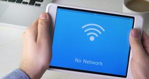 Não capaz de encontrar a rede do wifi na tabuleta digital filme