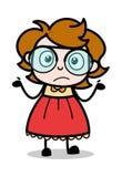 Não conheça - a ilustração inteligente do vetor da menina dos desenhos animados do adolescente ilustração do vetor